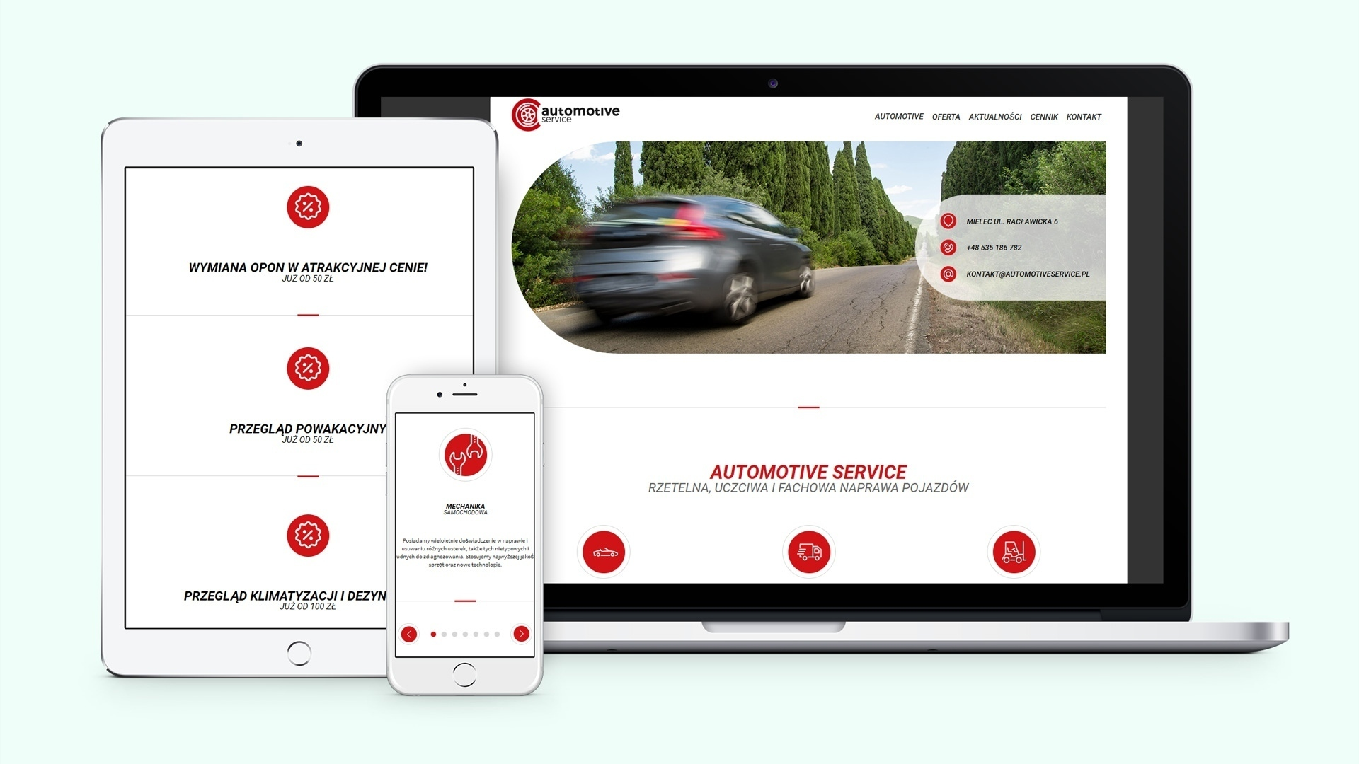 Automotive Service - Strona internetowa